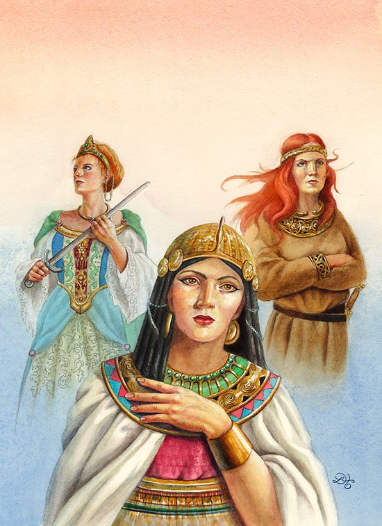 It was hard to find a good warrior women illustration which had women with