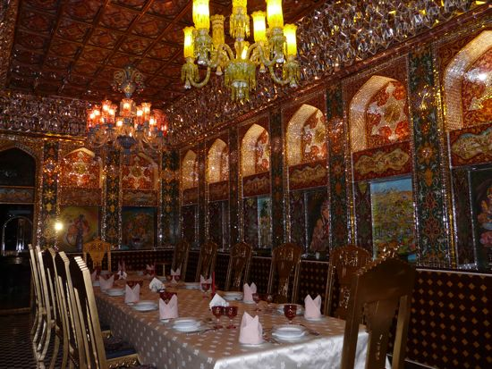 The Amir's private dining room can be entirely closed off for private dinners.