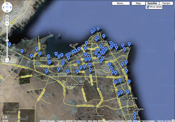 Googleearth map of speed cameras in kuwait here there and everywhere adventureman tells me in doha qatar there are now speed cameras everywhere and the fines are huge like 2000 for speeding and they have the picture to gumiabroncs Choice Image