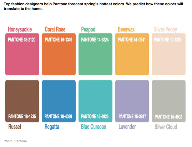 pantone names spring colors for 2011 here there and everywhere. Black Bedroom Furniture Sets. Home Design Ideas