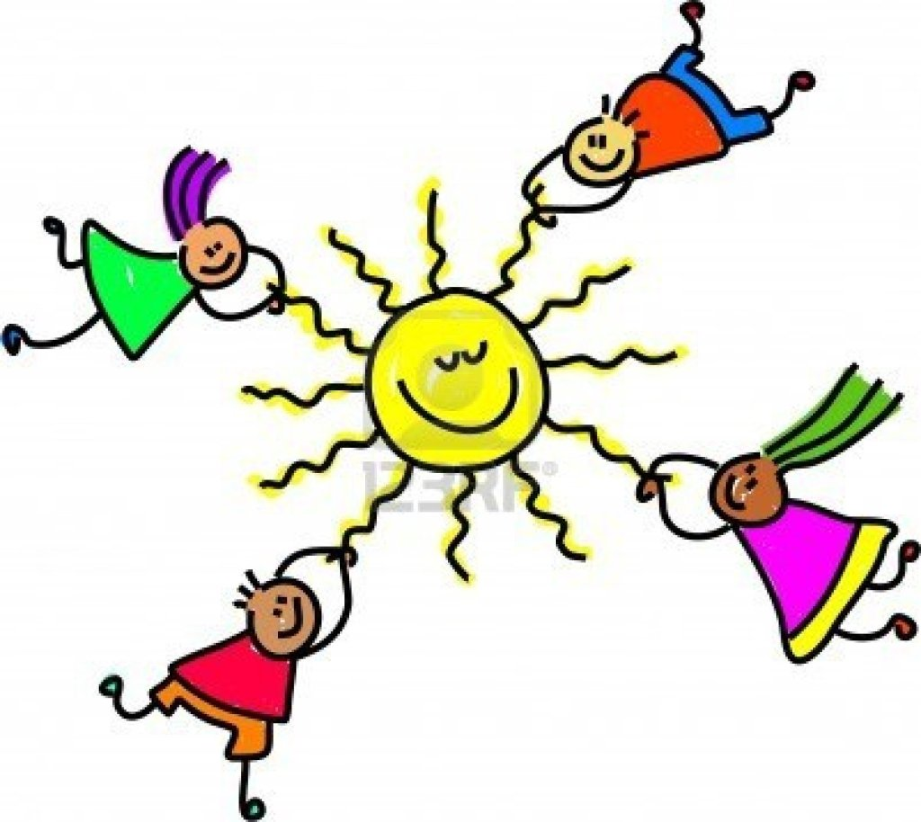 843602-group-of-happy-and-diverse-children-holding-onto-the-sun--toddler-art-series