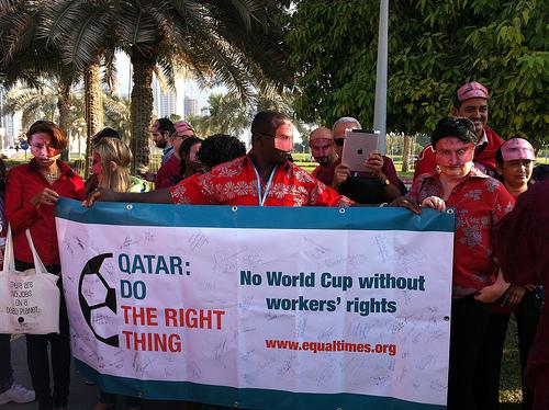 ITUC Rally Doha