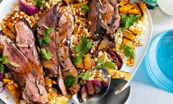 Butterflied-lamb-with-pumpkin-and-couscous-salad