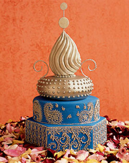 blue-gold-moroccan-round-wedding-cake