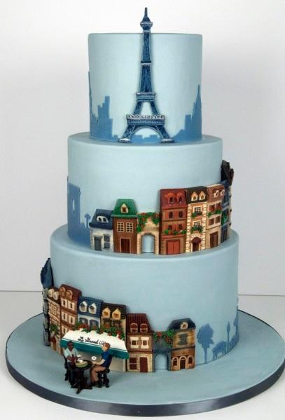 Parisian-Theme-Wedding-Cake-via-fortheloveofcake.ca_