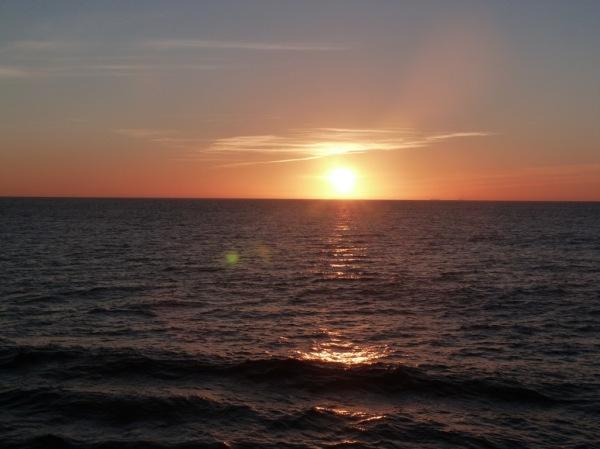 SunsetOverMed en route toCasablanca