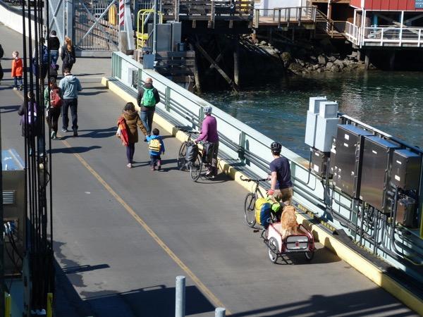 FerryPassengersDepart