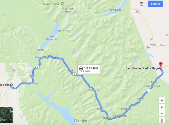 From West Glacier National Park to Glacier Park Lodge the ... Glacier Park Lodge Map on glacier natl park map, east glacier park map, glacier park peak map, glacier park hotel map, glacier montana map, many glacier hotel map, glacier park camping map, lake mcdonald lodge map,