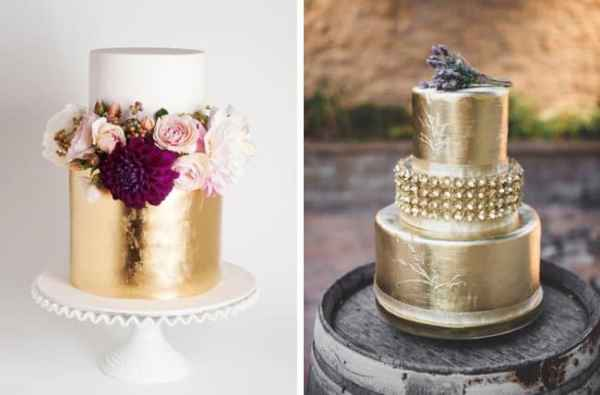 003-metallic-wedding-cakes-as-seen-on-southboundbride